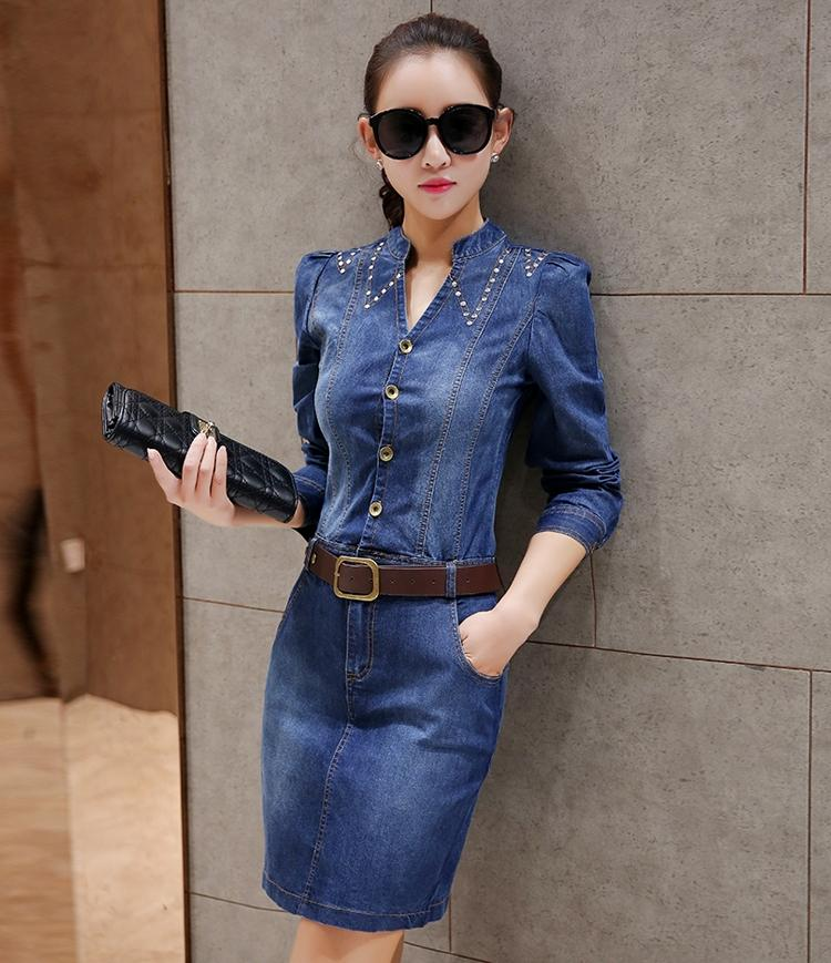 JF DF882 Fashion Denim Dress