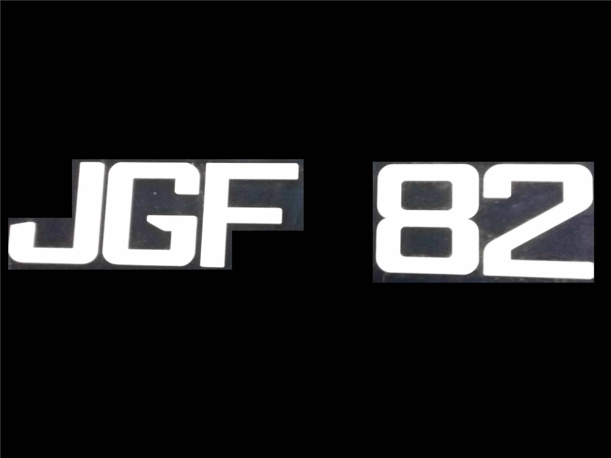 JGF FONT CRYSTAL ACRYLIC CAR NUMBER PLATE SET 2 - 7 ALPHABET
