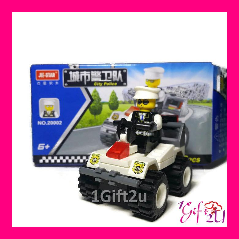 JieStar Lego Compatible Police Squad Assault Vehicle Building Set