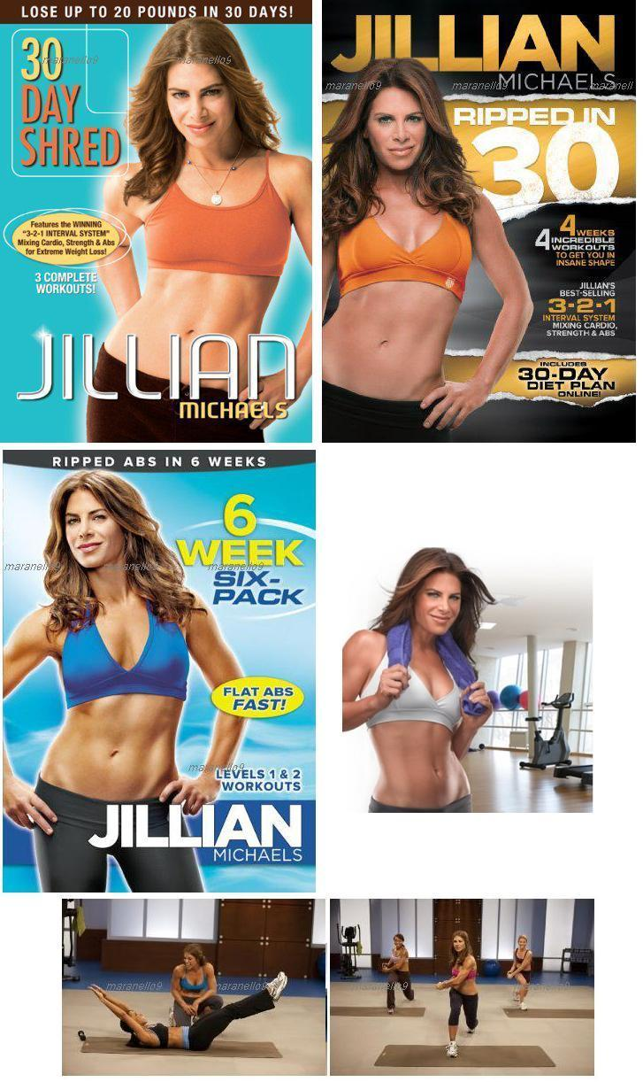 Jillian Michaels:30 Day Shred+ Ripped In 30+ 6 Weeks Six Pack 3in1 DVD