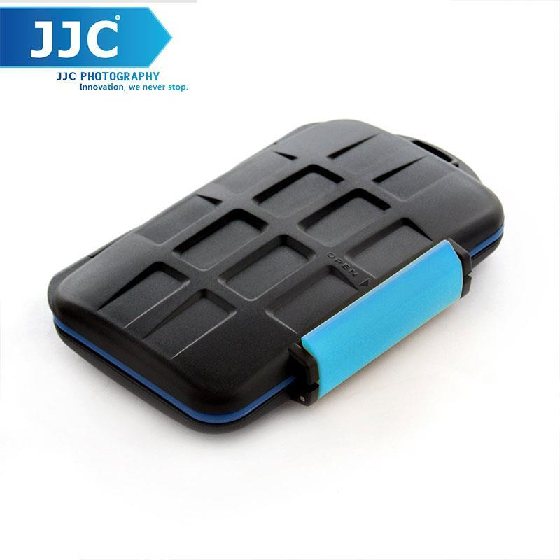 JJC MC-2 Rubber Sealed Water-Resistant Memory Card Case for 4 Cf Cards