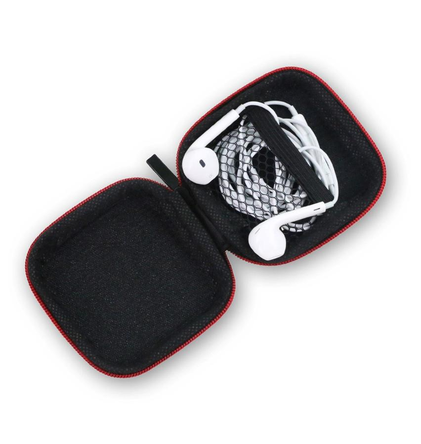 JM GAMING Portable PU Leather Carrying Hard Case iPod MP3 Earphone