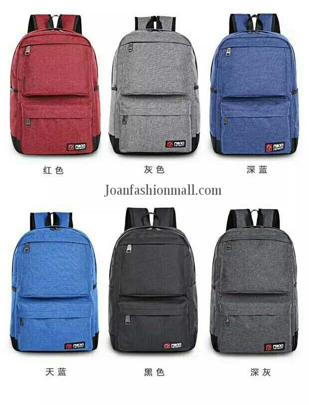 [Joanfm] Casual Outdoor Canvas Linen Backpack Bag