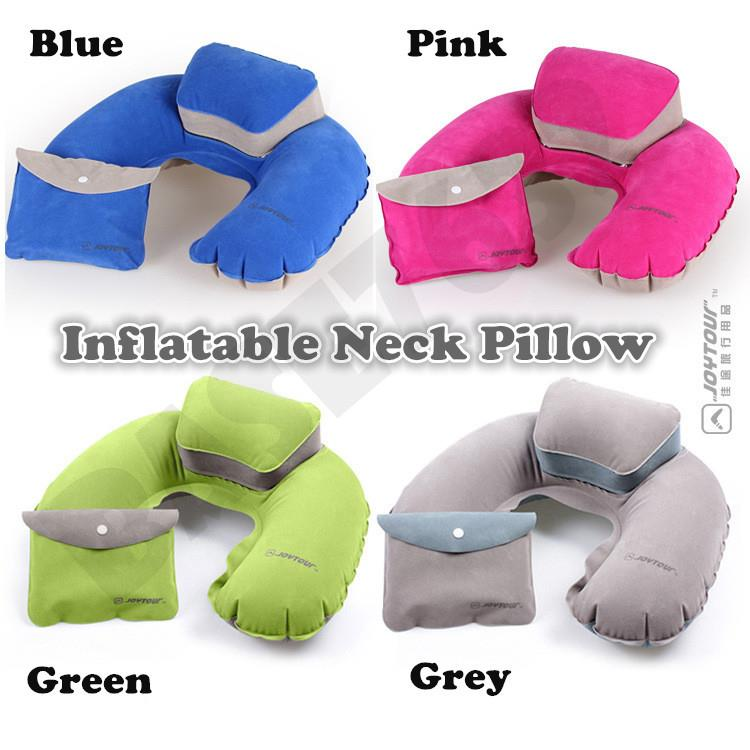Joytour Inflatable Neck Support Pillow Travel Tool Kit + Free Pump