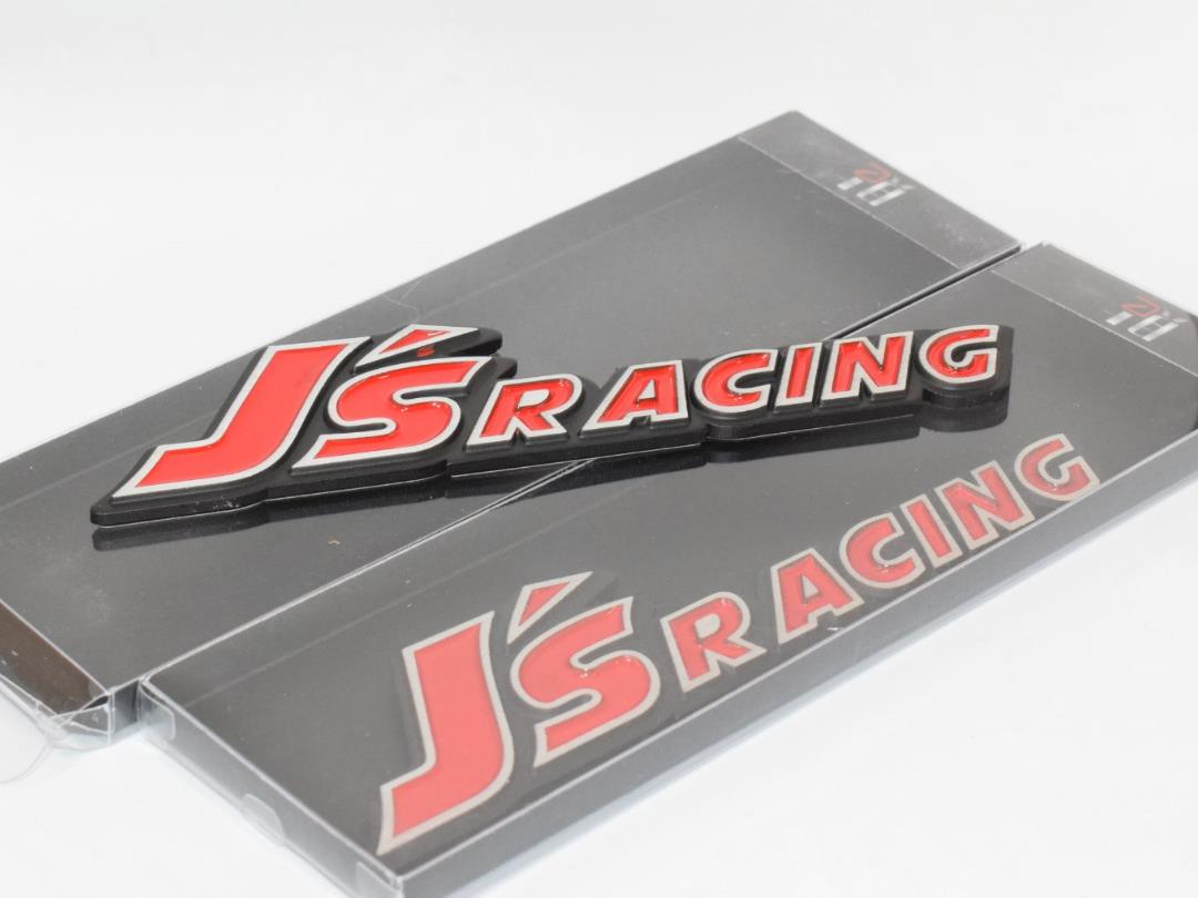 Js Racing Red Hq Aluminium Metal Car 3D Badge Emblem Br 2 Piece #GW-W