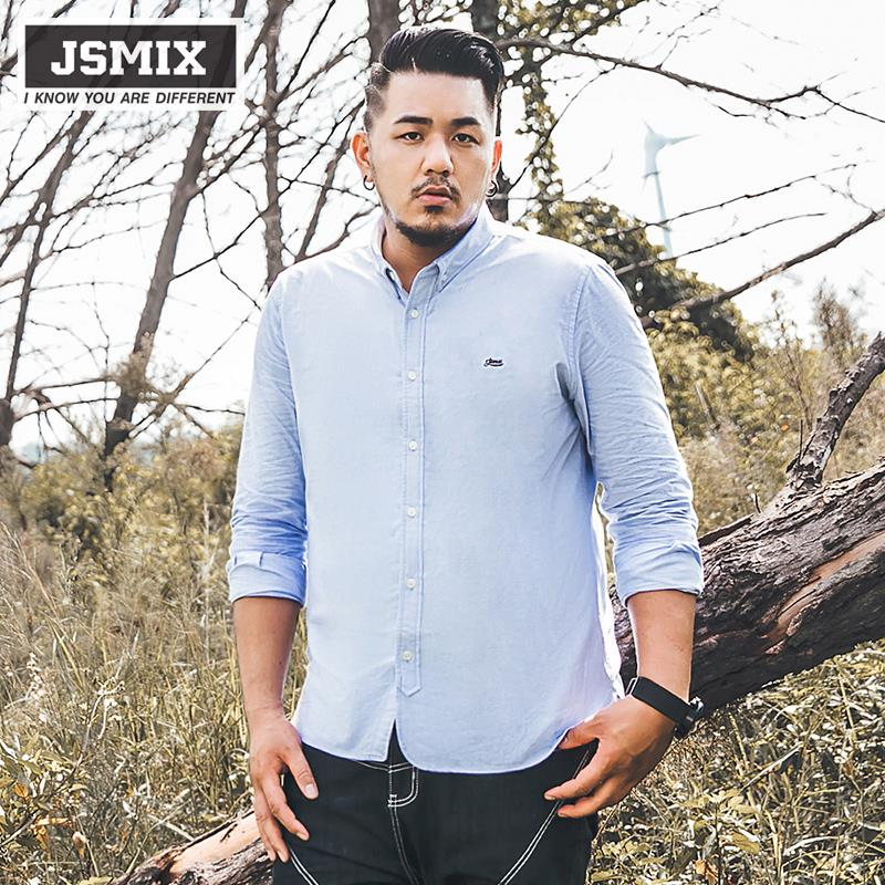 JSMIX Men's Plus Size (XL~6XL) Casual Cotton Long Sleeve Shirt X1991