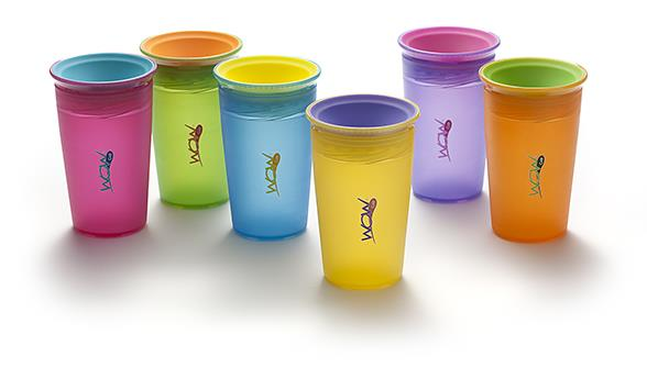 JUICY! WOW Cup® for Kids Translucent Spill Free Tumblers