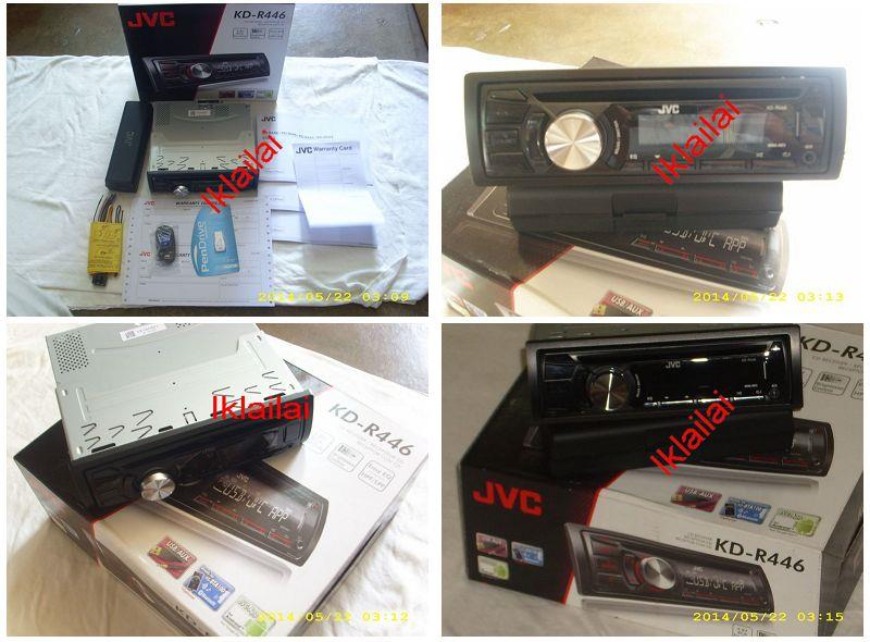 JVC KD-R446 CD USB MP3 Receiver with Dual AUX Player