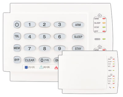 K10H Paradox 10-zone LED keypad; built-in 1-zone input