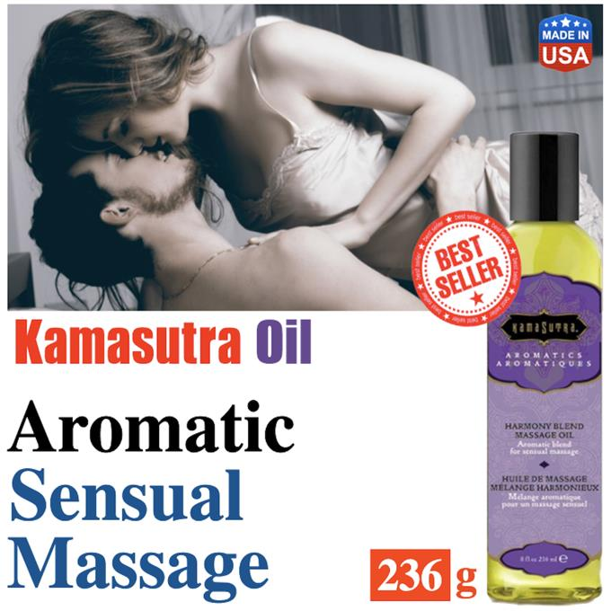 Kamasutra Oil 236ml, Harmony Blend, Sensual Massage Oil, Sexy Foreplay