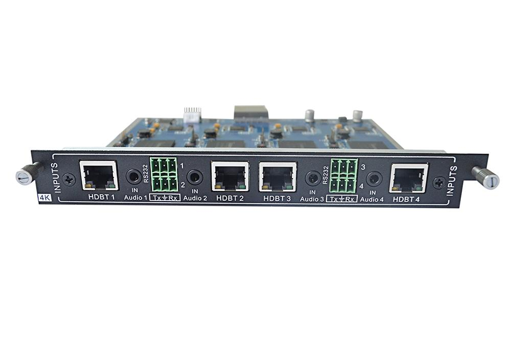 KanexPro 4-Input HDBaseT card for Modular matrix with 4K Support