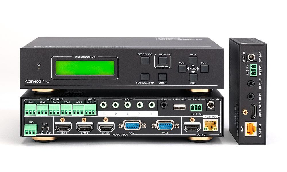 KanexPro 5-Input Presentation HDBaseT™ Switcher & Scaler w/ Audio