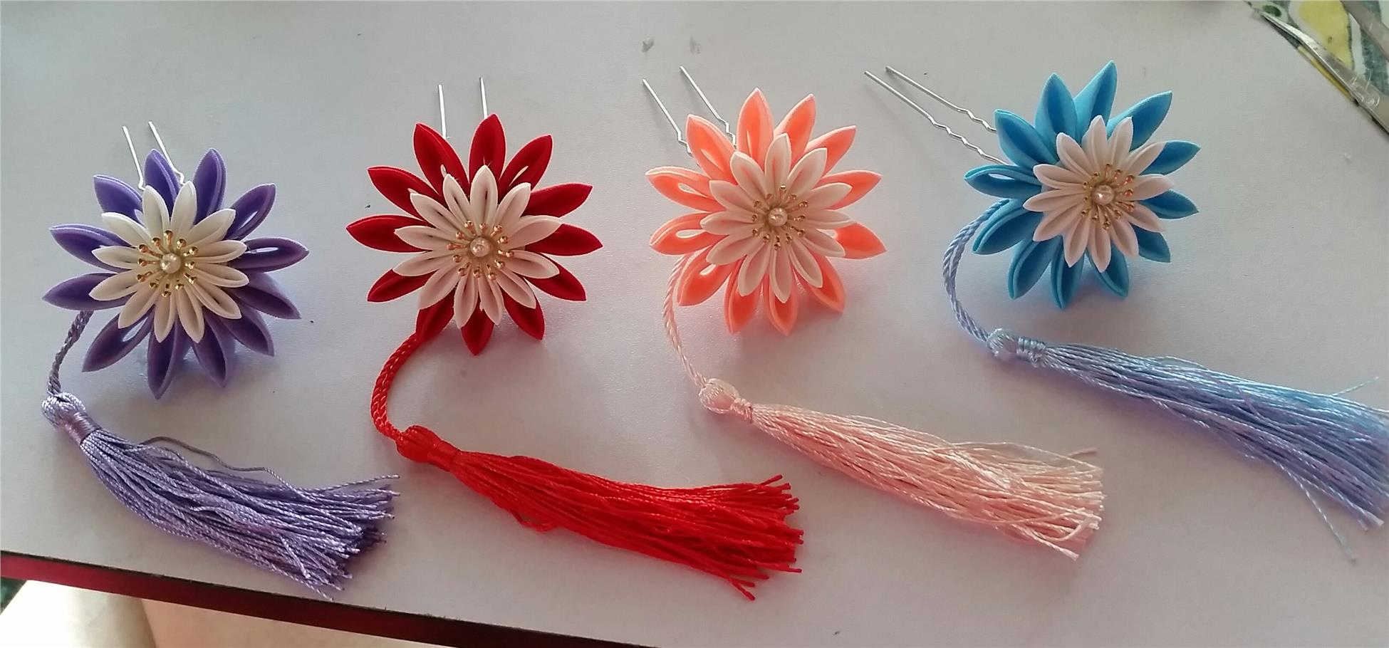 Kanzashi Hair Pin-Blue