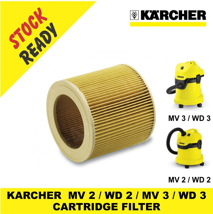 KARCHER  MV 2 / WD 2 / MV 3 / WD 3 CARTRIDGE FILTER