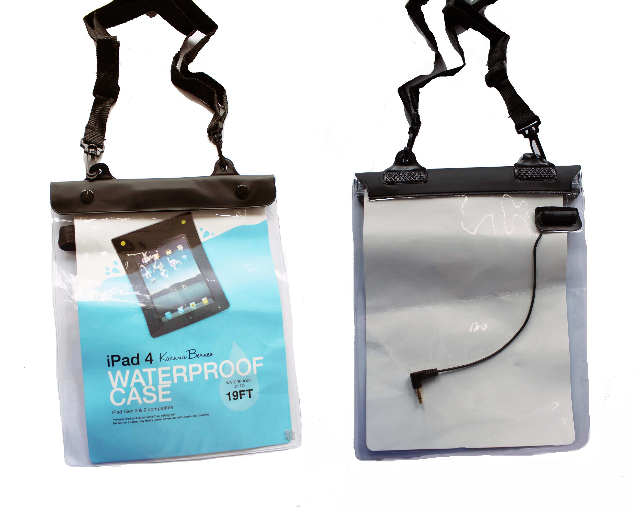 Karuna Waterproof Ipad Punch with Audio Jack which able to use as deep as 19fts in the water.