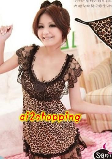 Kawaii Sexy Lingerie Lace Leopard+ G-string 02800