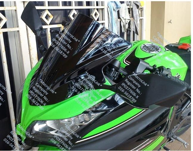 Kawasaki New Ninja 250R 250 2013 Bubble Windscreen Windshield