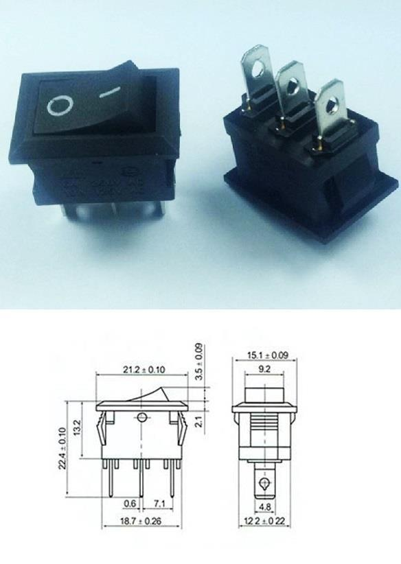 KCD-102 Rocker Switch