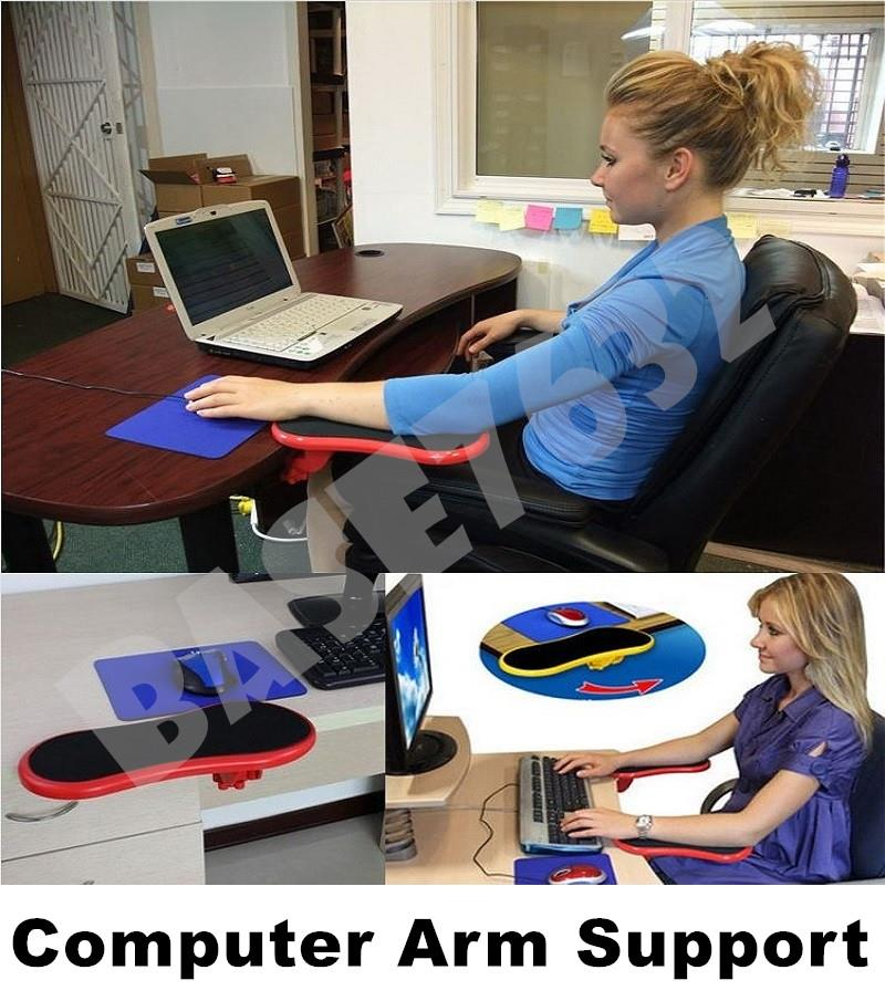 KEERQI Computer Arm Support Desk Table Clamp for Use Mouse Keyboard