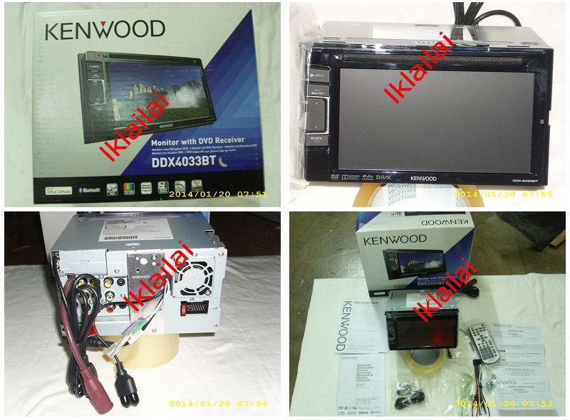 Kenwood DDX-4033BT Bluetooth 6.1' Wide VGA Double Din DVD Player Touch