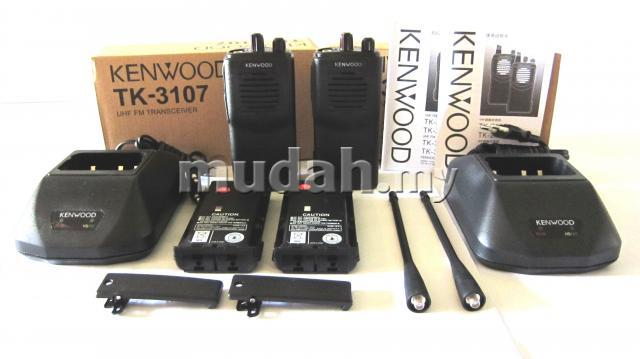 Kenwood TK3107 Walkie Talkie UHF FM Transceiver 1 PAIR RM299