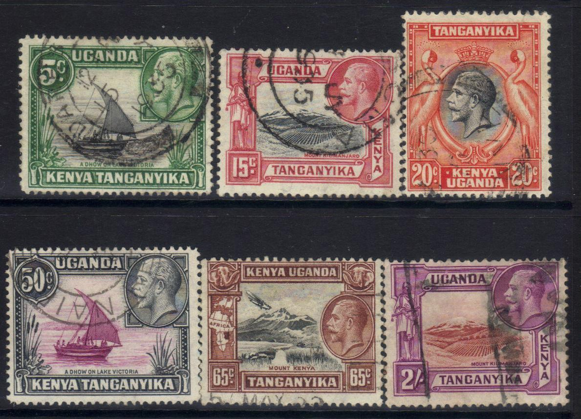 KENYA,UGANDA & TANGANYIKA 1935 KGV DEFINITIVES USED CAT £7+ BJ268