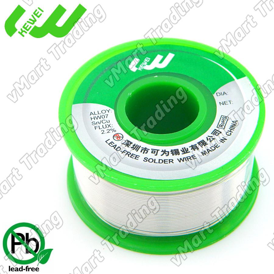 KEWEI Lead-Free Sn99.3Cu0.7 Solder Wire 1.0mm 100g