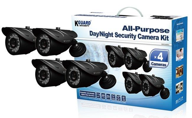 KGUARD DAY & NIGHT OUTDOOR CCTV CAMERA KIT (CW214HPK4)