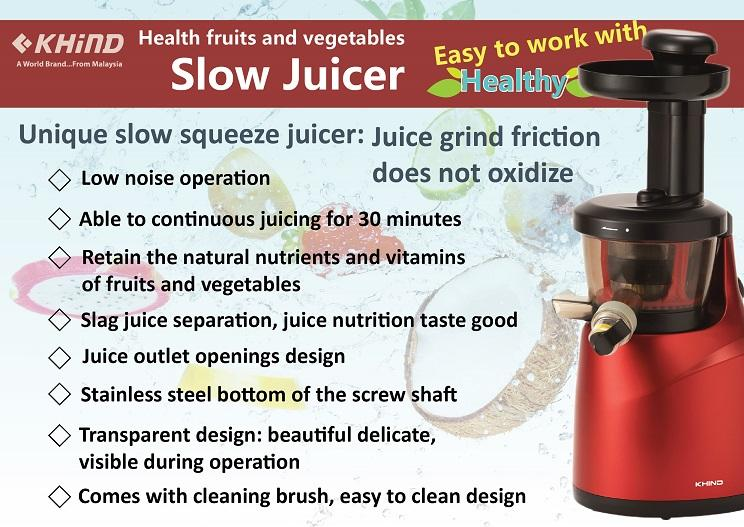 KHIND SLOW JUICER JE150S (end 3/13/2016 7:15 PM - MYT )