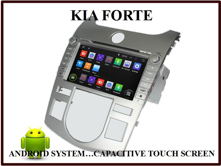 KIA FORTE ANDROID OEM CAR DVD PLAYER w 3G, WIFI, GPS MAP, BLUETOOTH