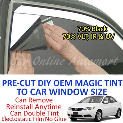 Kia Forte Magic Tinted Solar Window ( 4 Windows & Rear Window ) 70% Bl