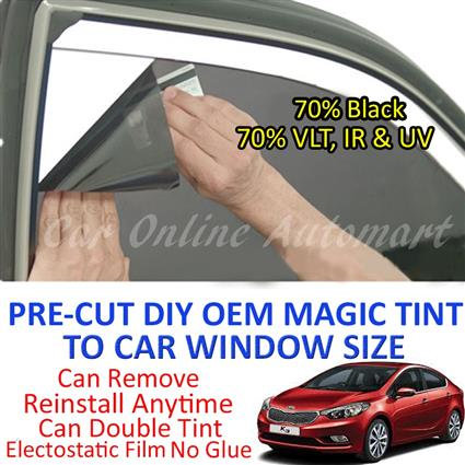 Kia K3 Magic Tinted Solar Window ( 4 Windows & Rear Window ) 70% Black