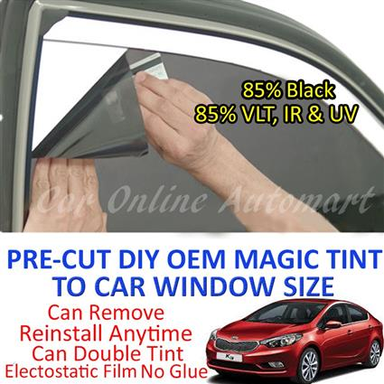 Kia K3 Magic Tinted Solar Window ( 4 Windows & Rear Window ) 85% Black