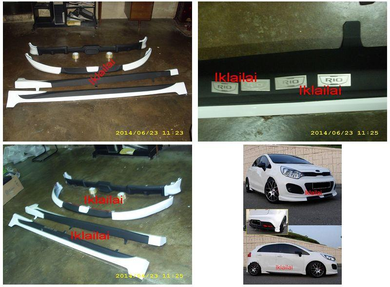 Kia Rio HatchBack '13 Full Set Body Kit [PPU Material]