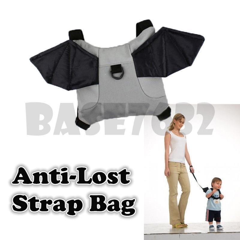Kid Child  Wing Wings Bat Anti Lost Safety Baby Bag Backpack