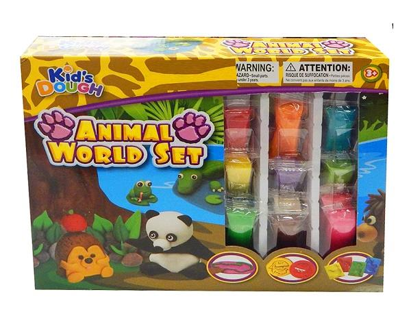 Kid's Dough Animal World Set (For Ages 3 Years +)