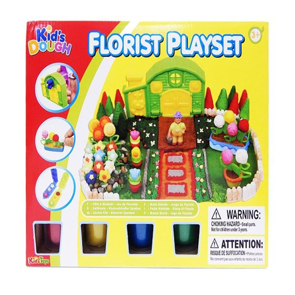 Kid's Dough Florist Playset (For Ages 3 Years +)