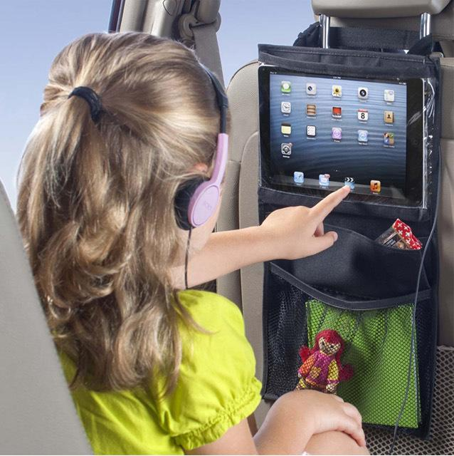 Kids Car Back Seat iPad Travel Holder or Pouch Organizer