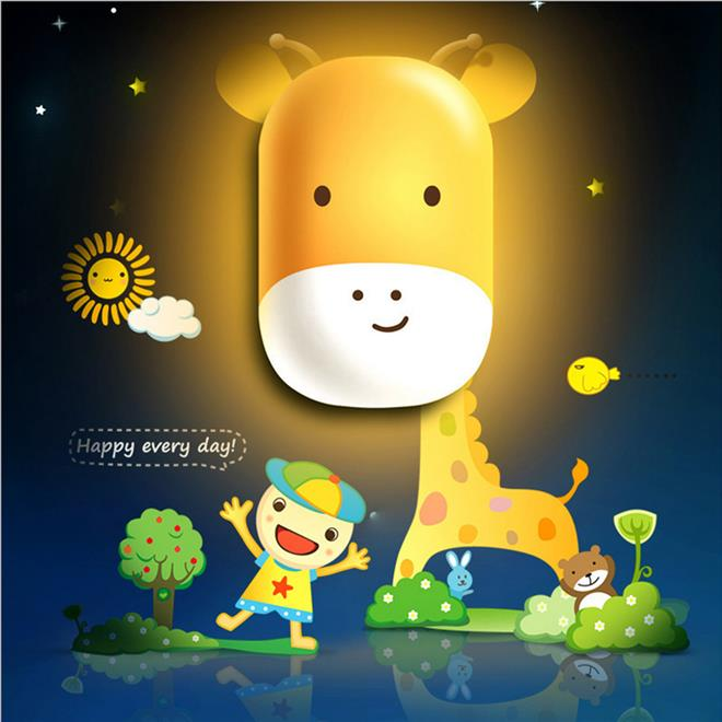 Kids Children Auto Sensor LED Cute Night Light with Wallpaper