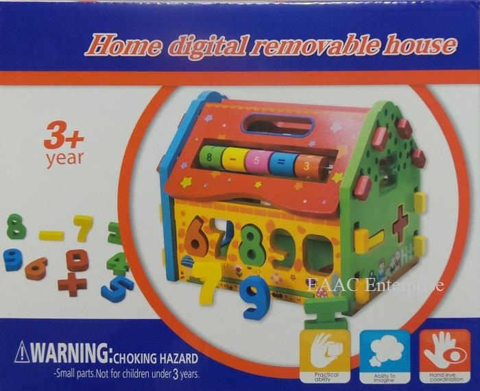 Kids Educational Wooden Wisdom Learning House