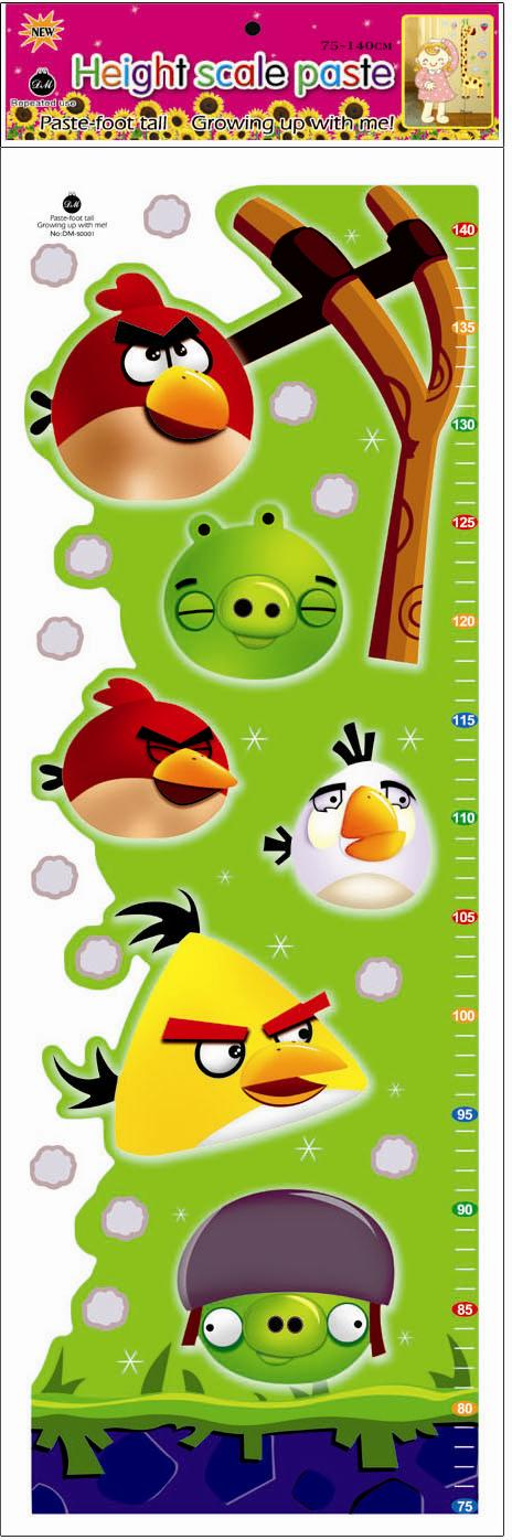 Kids Height Measurement Growth Chart Wall Sticker - Angry Bird