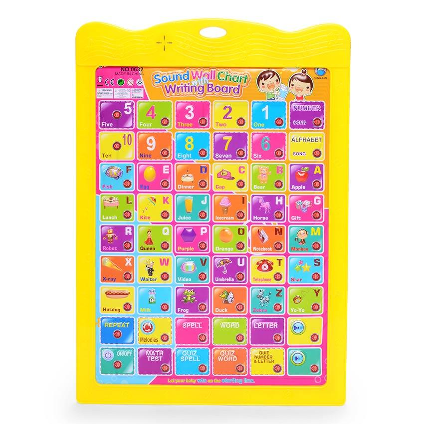 Kids Learning Alphabet Numbers + Drawing Board Sound Educational Toys