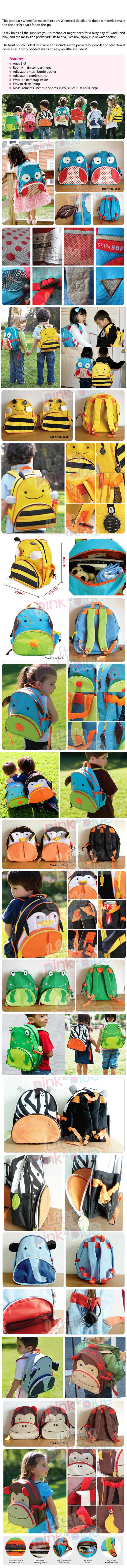 Little Kids Nursery Kindergarten School Bag Backpack