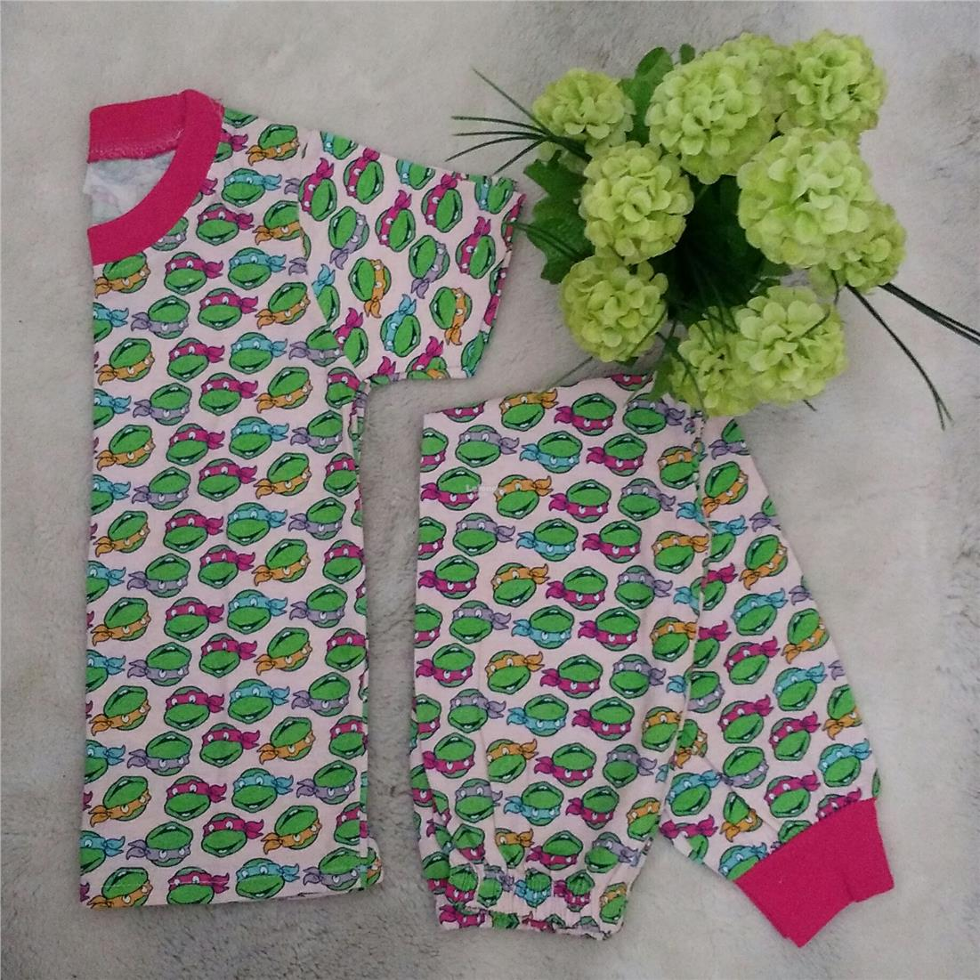KIDS PYJAMAS NINJA TURTLE 2 PAIRS SET SHORT SLEEVE 1-2YEARS