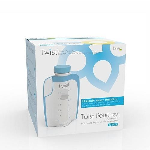 Kiinde Twist Pouches Breastmilk Storage Bags 6oz - 40 pack