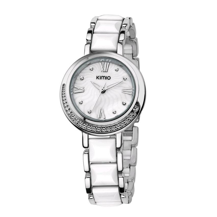 Kimio K496 Luxury Japan Quartz Silver White Strap Watch (White)