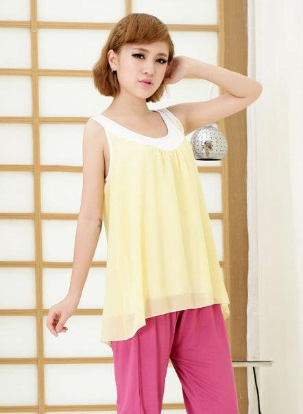 King Size Chiffon Singlet 12903 (Yellow)
