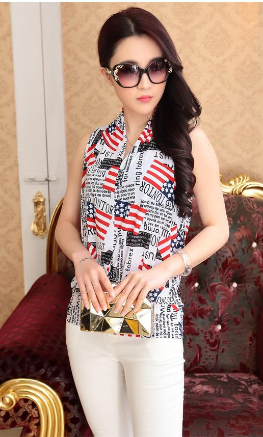 King Size Ice Silk Show-slim V Blouse (10)