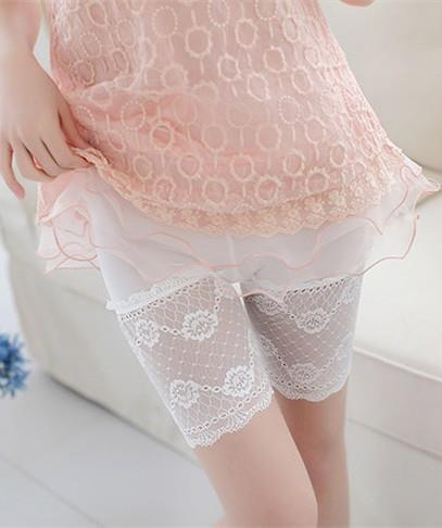 King Size Lace Flower Inner Shorts (Many Colours)