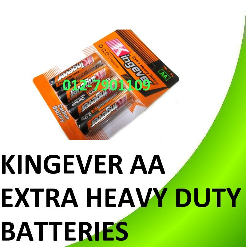 Kingever Extra Heavy Duty AA Carbon Battery Batteries